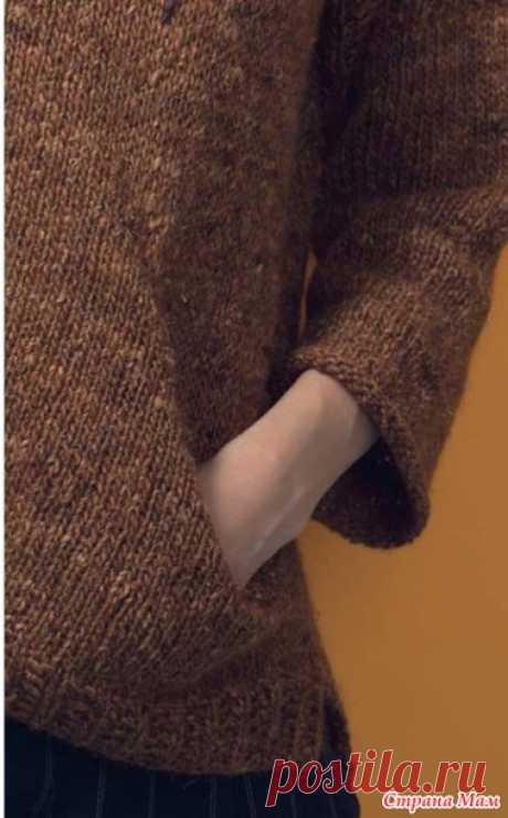 """Моя """"проба пера"""" по вязанию интересного кармана спицами"""