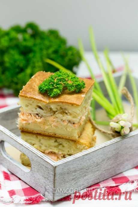 Заливной пирог с семгой — рецепт с фото пошагово