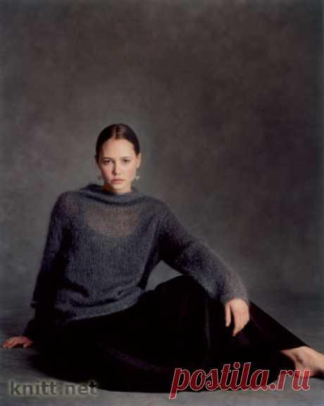 El pulóver delgado de mohera Nissa.
