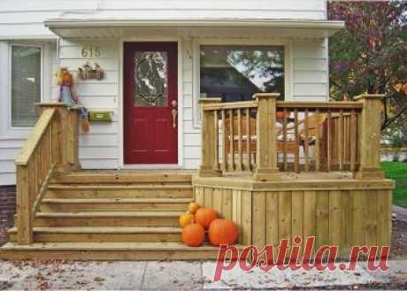 Крыльцо для дачного дома из дерева: какую конструкцию выбрать