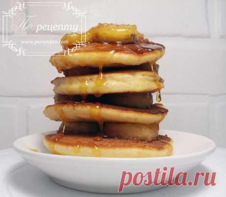 Как сделать панкейки: американские панкейки с бананом и карамелью | По рецепту