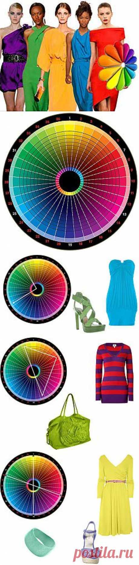 Сочетание цветов в одежде по цветовому кругу
