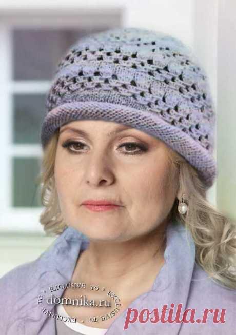 Вязание спицами шапки для женщин старше 60 лет - 6 моделей со схемами