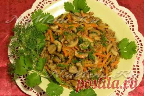 Рецепт гречневой каши с грибами в мультиварке