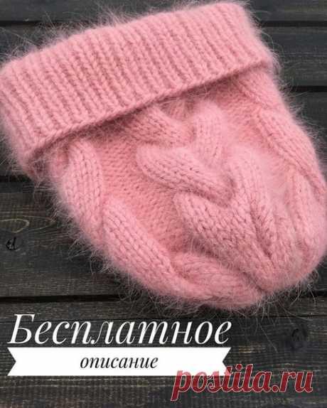 ШАПКА спицами Вязали так же? Поделитесь в комментариях. #шапка_женская@knit_new, #шапка_спицами@knit_new  Бесплатное описание шапочки с косами Показать полностью…