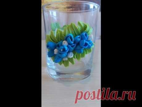 Декорирование стакана из полимерной глины