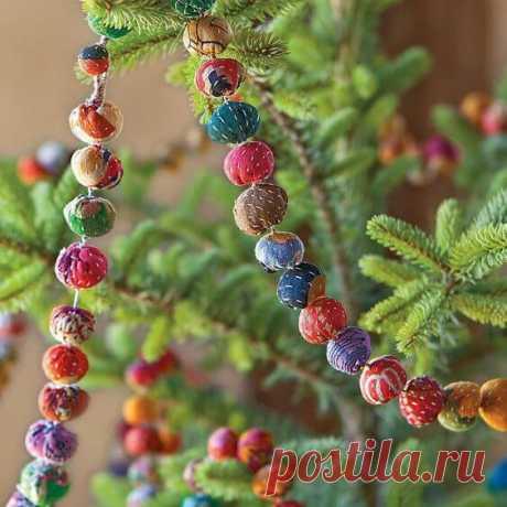 Новогодние гирлянды своими руками: 40 идей ~ ALL-DEKOR