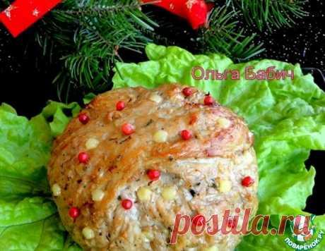 Новогодний мясной шар – кулинарный рецепт