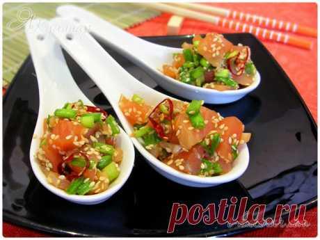 Японский салат с семгой – пошаговый рецепт с фотографиями