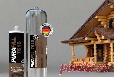 Немецкий акриловый герметик для теплого шва