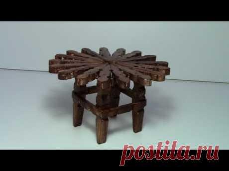 tutorial mesa con pinzas de madera / tutorial table with wooden pegs