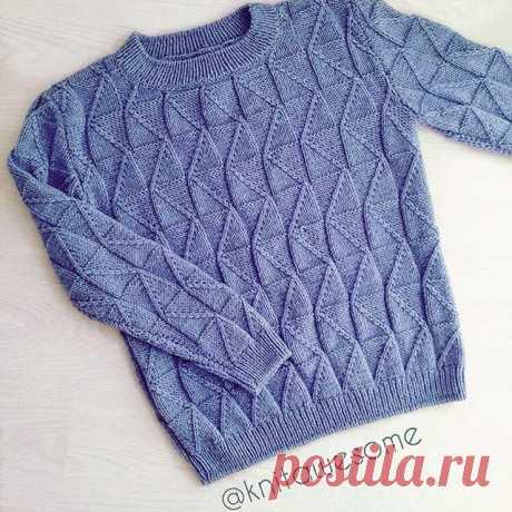 Мужской свитер 💙 По всем вопросам обращайтесь в Direct / WhatsApp 8 (977) 31 08 #knitawesome #вязание #вязаныевещи #ручнаяработа #handmade #knitting #свитер #оверсайз