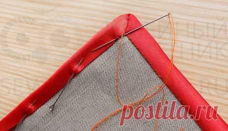 Как обработать косой бейкой внешний угол: мастер-класс — Сделай сам, идеи для творчества - DIY Ideas