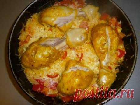 Запеченый рис с курицей