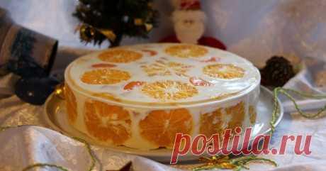 Рецепт обалденного желейного торта «Цитрусовое чудо»