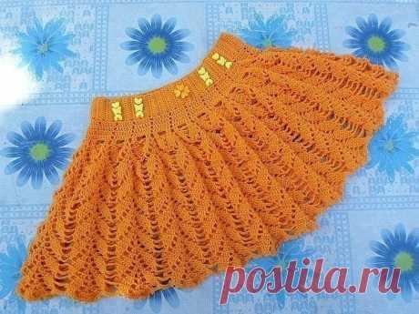 Вяжем солнечную юбочку для девочки из категории Интересные идеи – Вязаные идеи, идеи для вязания