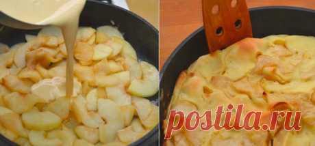 Немецкий яблочный панкейк — сочный и безумно вкусный!