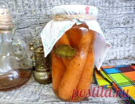 Маринованная морковь по-итальянски. Ингредиенты: морковь, яблочный уксус, растительное масло | Едим Дома кулинарные рецепты от Юлии Высоцкой