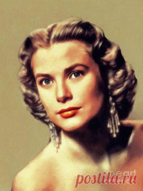 Grace Kelly, Vintage Actress by Esoterica Art Agency Grace Kelly, Vintage Actress Painting by Esoterica Art Agency