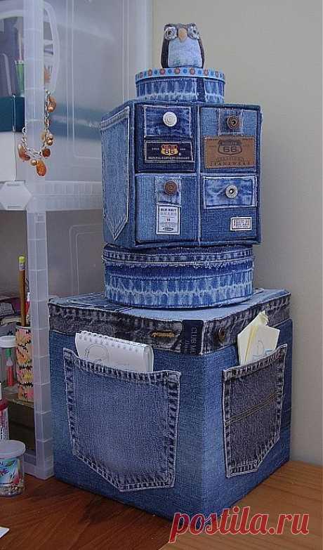 кусочки джинсов / Handmade / Переделка одежды / Pinme.ru / mamamijka