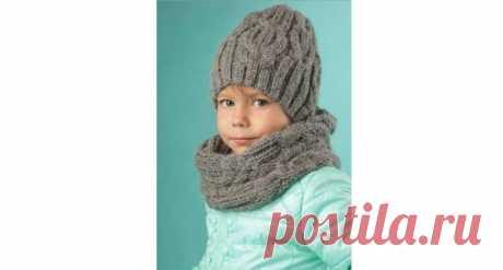 Шапка БИНИ с косами на мальчика от 3 до 5 лет — описание вязания Интересный комплект из шапочки бини и снуда для мальчика на зиму на спицах. Схема и подробное описание с расчетом петель. Пользуйтесь!