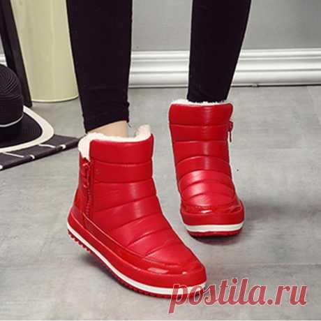 Мода женщин леди зимой теплый меховой подкладкой середины икры снега сапоги обувь – купить по низким ценам в интернет-магазине Joom