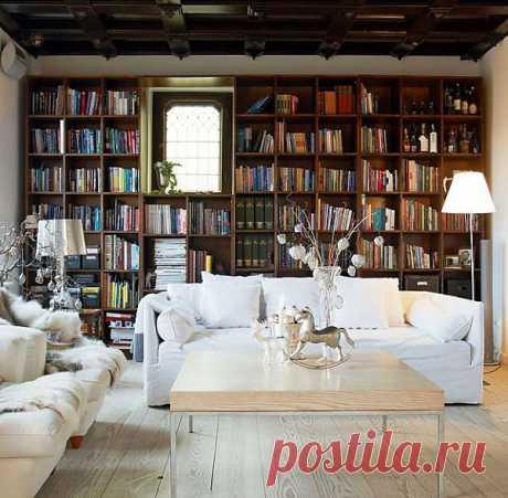(+1) - Книги в доме. Как обустроить домашнюю библиотеку | Интерьер и Дизайн