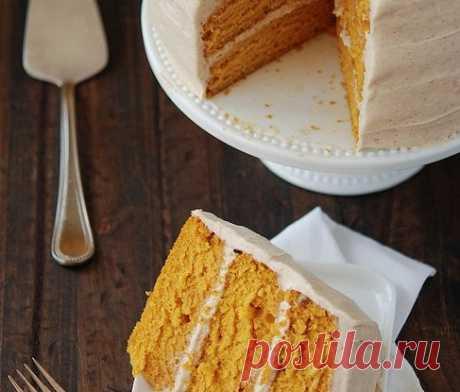 Морковный торт с грецкими орехами и корицей рецепт – выпечка и десерты. «Еда»