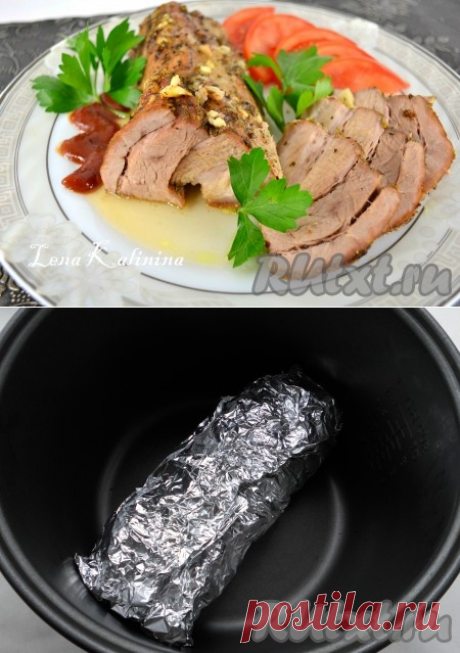Pork brisket in the crock-pot - the recipe with a photo