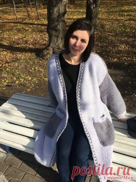 Пальто платочной вязкой - Вязание - Страна Мам
