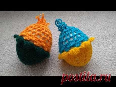 Красивый чехол для пасхального яйца вязаный крючком !!!Easter eggs Crochet