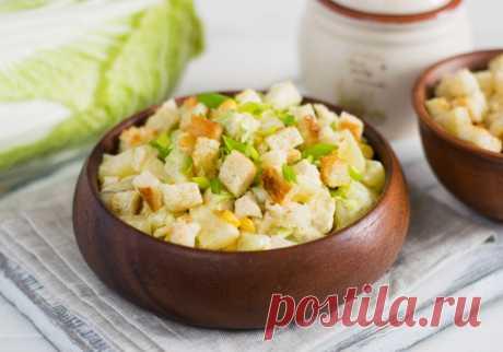 Салат с ананасом, курицей и капустой: рецепт пошаговый с фото | Меню недели