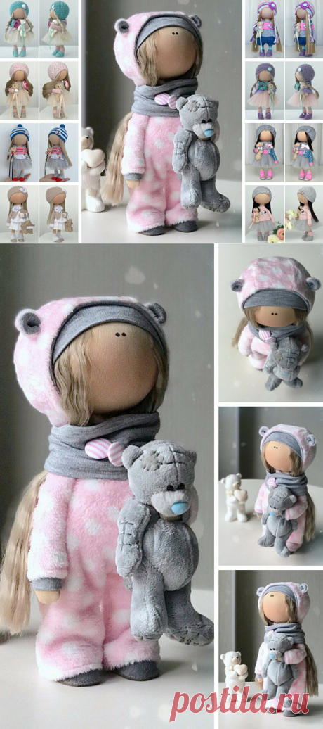 Baby Art Doll Decor Soft Doll Handmade Fabric Doll Poupée