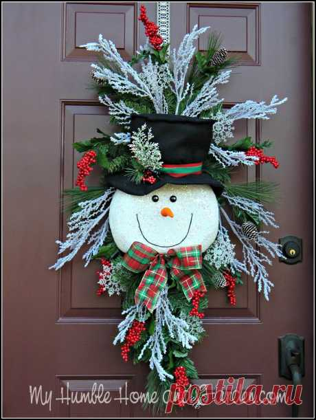 Tips and How To Create A Magical Snowman Wreath - My Humble Home and Garden