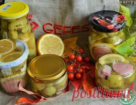 """Маринованные зелёные помидоры """"Русские оливки"""" – кулинарный рецепт"""