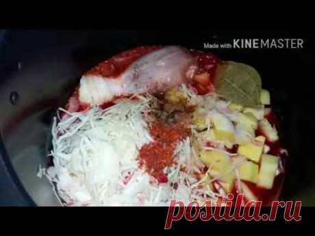 Готовим борщ в мультиварке-скороварке MOULINEX cook4me usb - YouTube