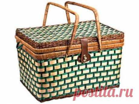 """Корзина для пикника с сумкой - холодильником """"Отдых"""""""