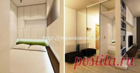 Интерьер комнаты с нишей для кровати