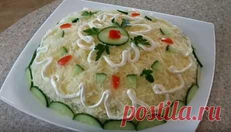 Салат с курицей, шампиньонами и огурцами — 9 рецептов салатов