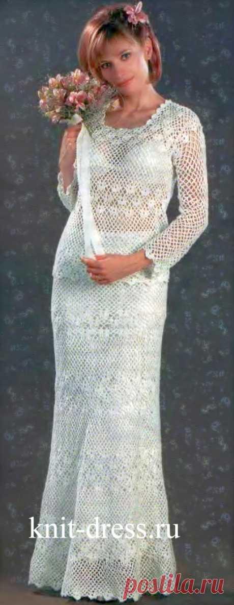 Свадебный костюм. Вязание крючком