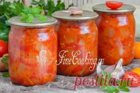 Салат из кабачков на зиму Пальчики оближешь - рецепт с фото
