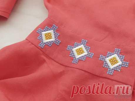 Примеры вышивки на одежде