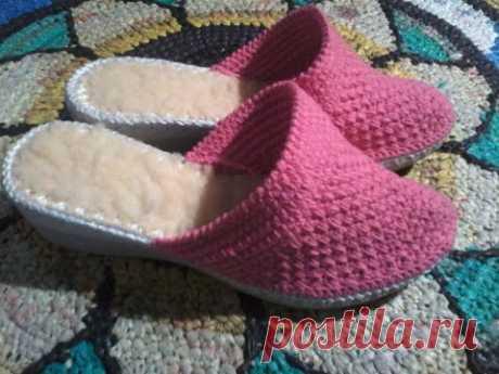 вязаная обувь крючком. реставрация обуви