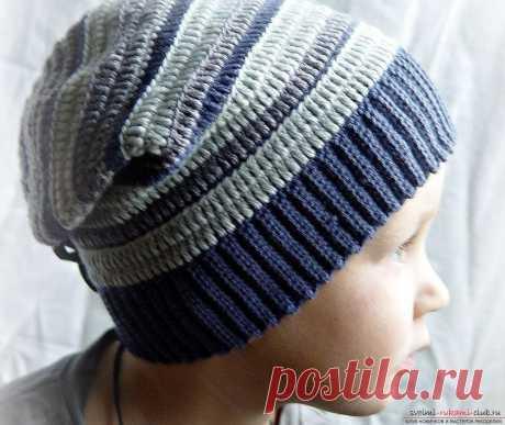 Рельефный узор для вязания шапки мальчику крючком