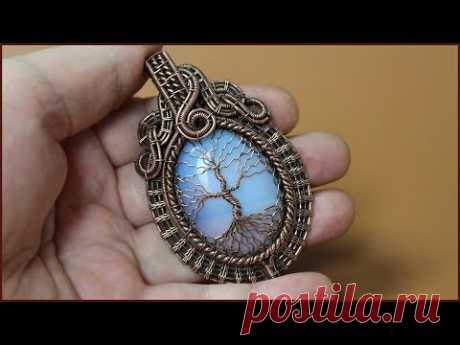 Handmade wire jewelry. Tree of Life wire wrapped pendant.