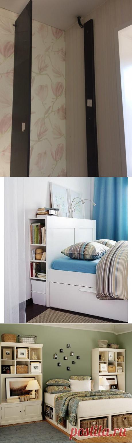 Скрытые системы хранения в спальне — Pro ремонт