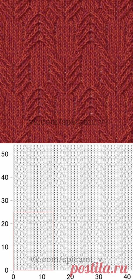 Схемы простых узоров спицами — Сделай сам, идеи для творчества - DIY Ideas