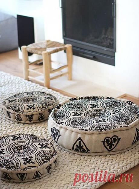 Напольные подушки и сидушки - разные формы и виды оформления. Шаблоны и идеи для воплощения.   Юлия Жданова   Яндекс Дзен