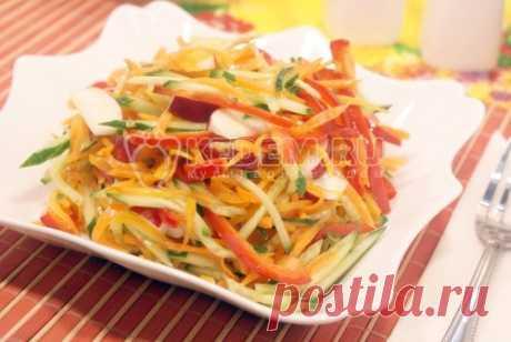 Салат из овощей с редисом Салат из овощей с редисом, отличный вариант для легкого завтрака, обеда или ужина.