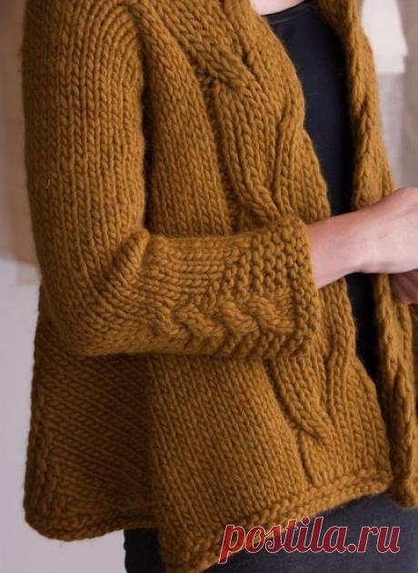 Толстое вязание спицами   Марусино рукоделие   Яндекс Дзен